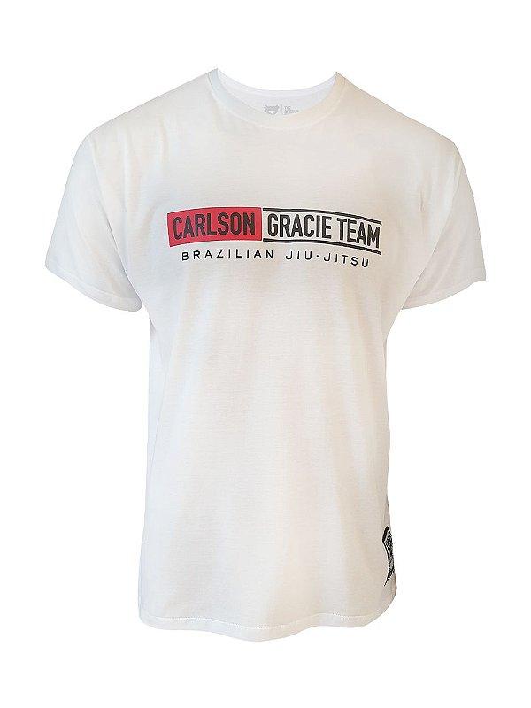 Camiseta Carlson Gracie Mata Leão Branca