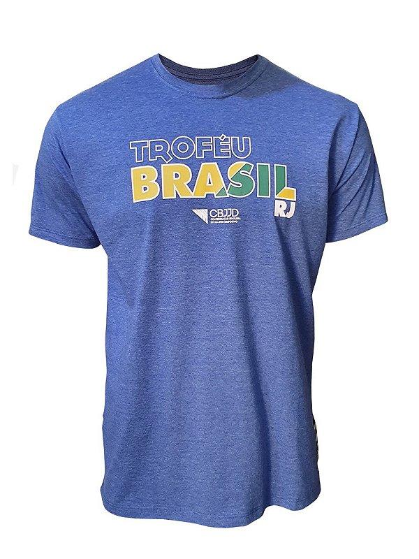 Camiseta Troféu Brasil FJJD-RIO Azul Mescla