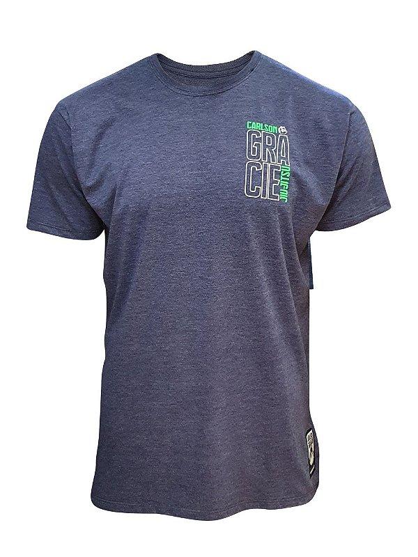 Camiseta Carlson Gracie Neon - Azul Mescla