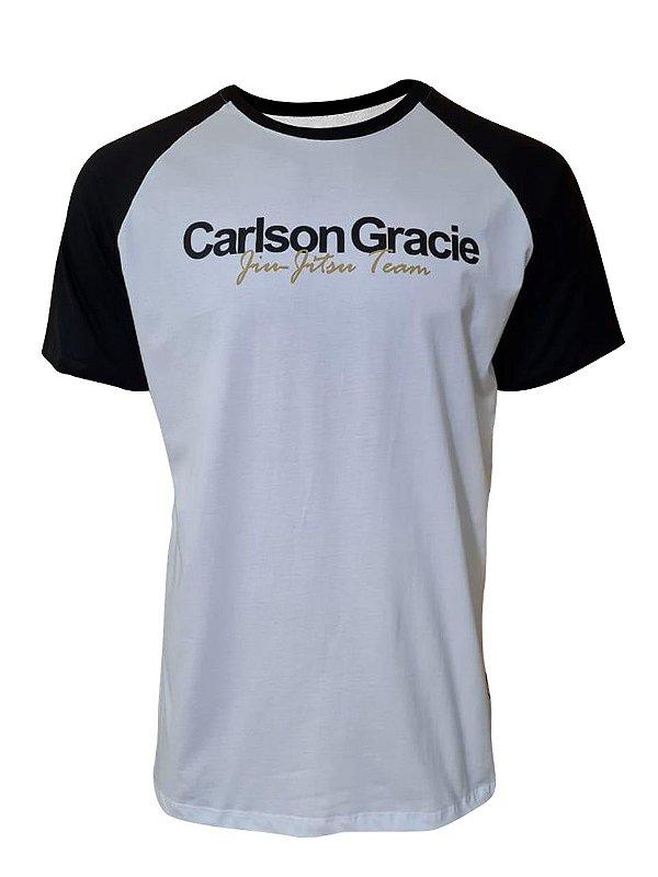Camiseta Carlson Gracie Raglan Welcome - Branca