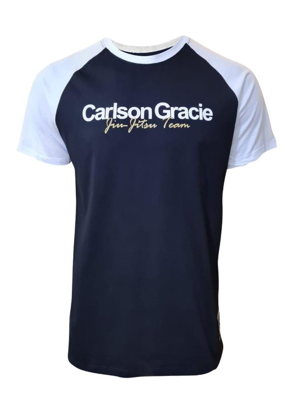 Camiseta Carlson Gracie Raglan Welcome - Preta
