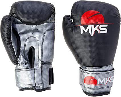 Kit Luva Boxe + Bandagem + Protetor Bucal MKS - Preto