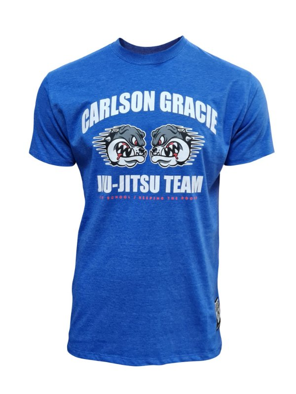 Camiseta Carlson Gracie Keeping the Roots - Azul Royal Mescla