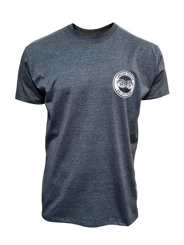 Camiseta Carlson Gracie Logo - Mescla Escura
