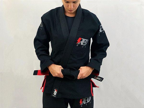 Kimonos Jiu Jitsu trançado - Red BJJ - PRETO
