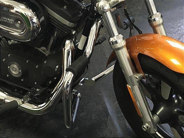 """Protetor de motor 883R até 2013 1"""" 1/4 cromada tradicional"""