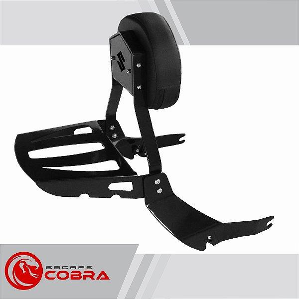 Sissy bar custom boulevard M1800 2015 até 2020 preto cobra