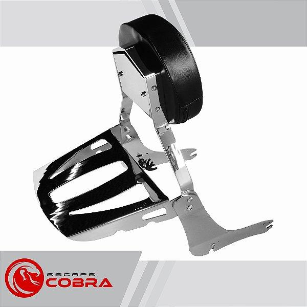 Sissy bar custom boulevard M800 2012 até 2017 cromado cobra