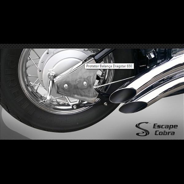Protetor de balança dragstar 650 1998 até 2008 cromado cobra