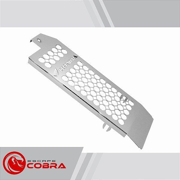 Protetor de radiador honda shadow 750 com abs cromado cobra