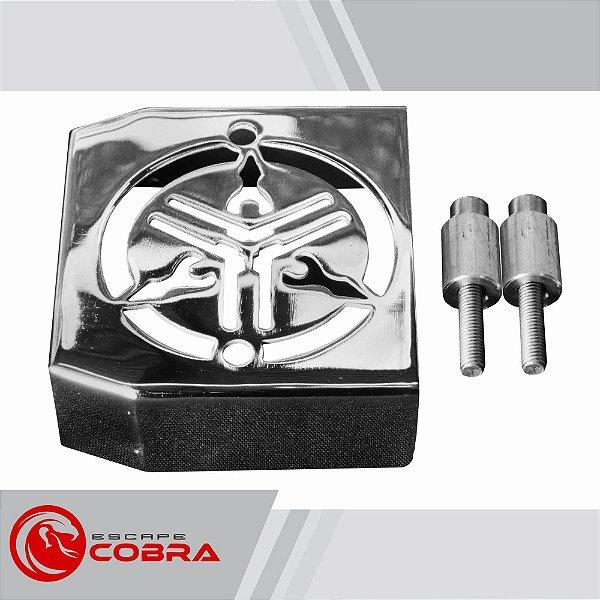Capa de retificador custom midnight star 950 cromado cobra