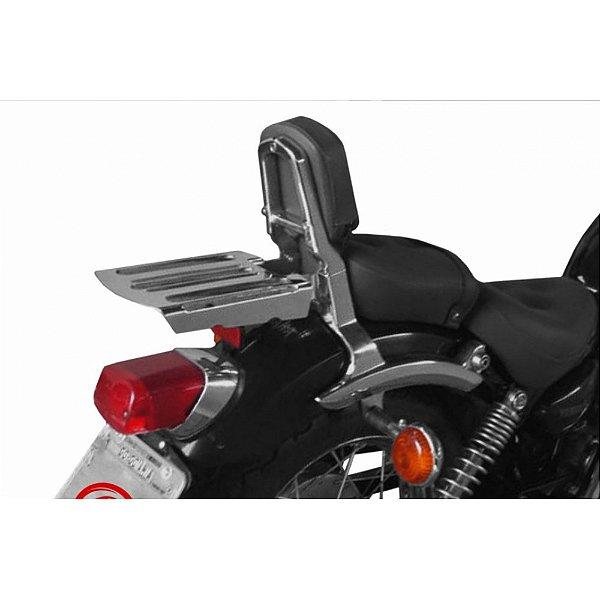Bagageiro para Yamaha Virago 535 cromado escape cobra