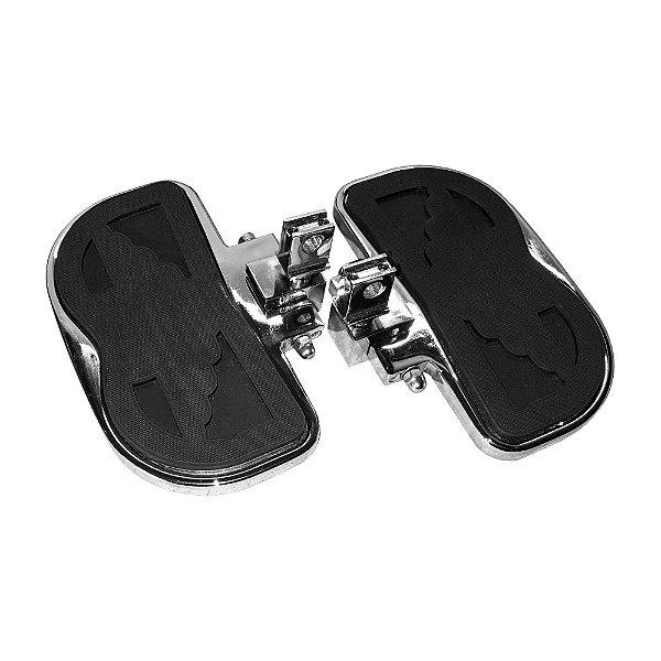 Plataforma garupa harley softail Deluxe 18 a 20 cromo cobra