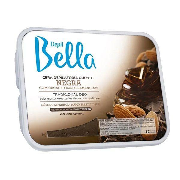 Cera Quente Negra 1kg - Depil Bella