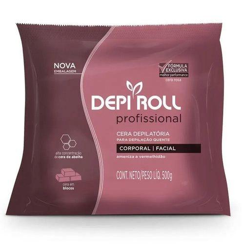 Cera Quente Rosa 500g - Depi Roll