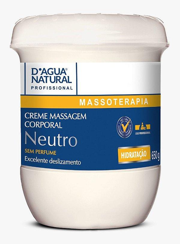 Creme Massagem Neutro 650g D'agua Natural