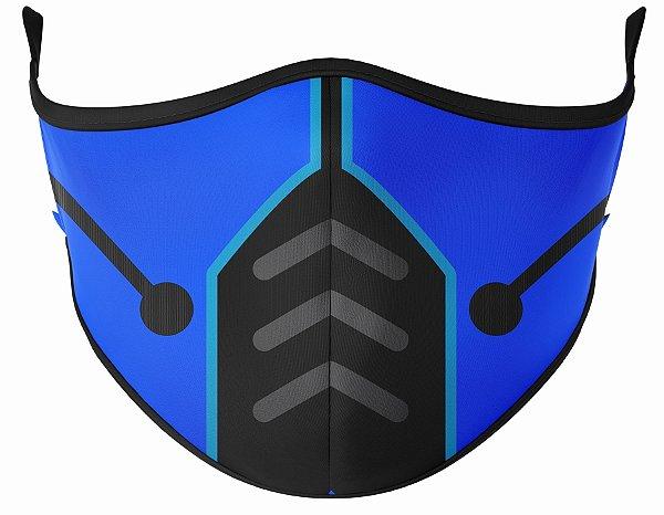 Máscara de Tecido de Dupla Camada  Mortal Kombat Sub Zero