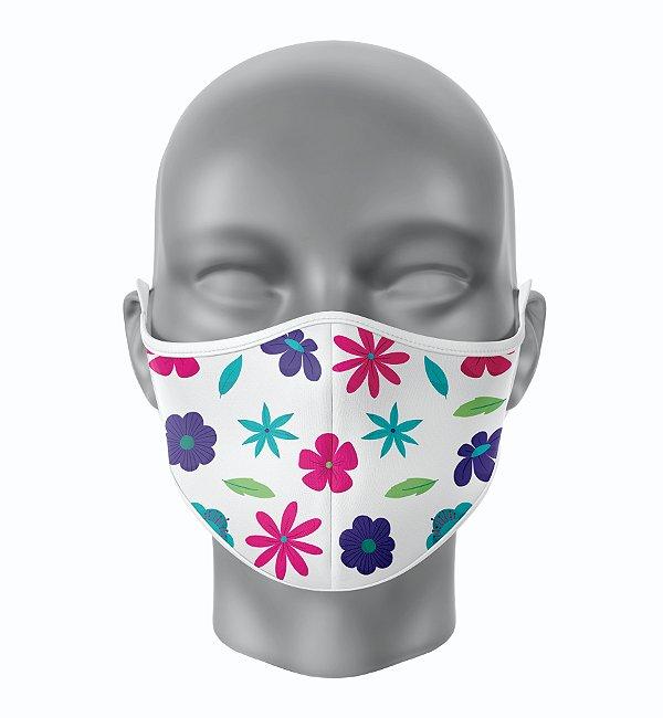 Máscara de Tecido de Dupla Camada Estampa Floral