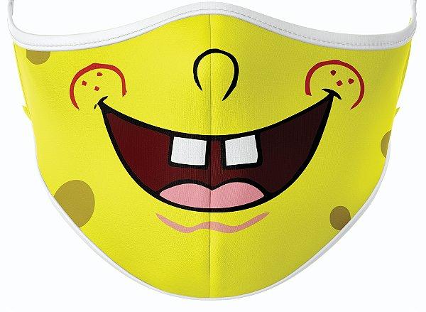 Máscara de Tecido de Dupla Camada Estampa Bob Esponja