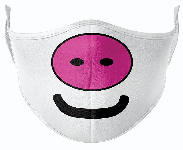 Máscara de Tecido de Dupla Camada Estampa Porco