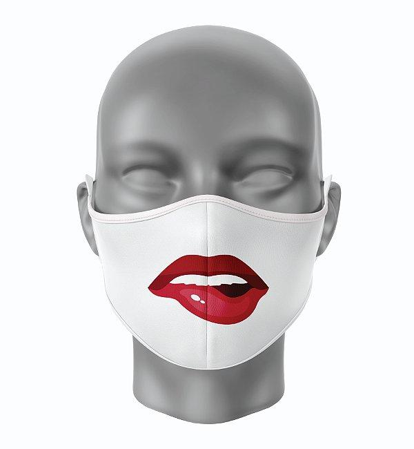 Máscara de Tecido de Dupla Camada Estampa Bocas Sensual 2