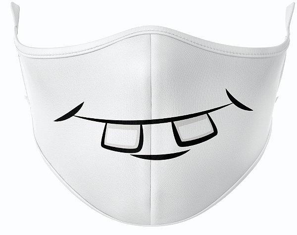 Máscara de Tecido de Dupla Camada Estampa Dentinho