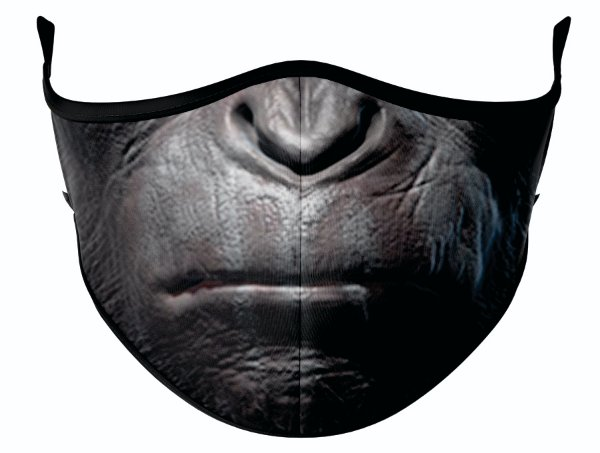 Máscara de Tecido de Dupla Camada Estampa Macaco