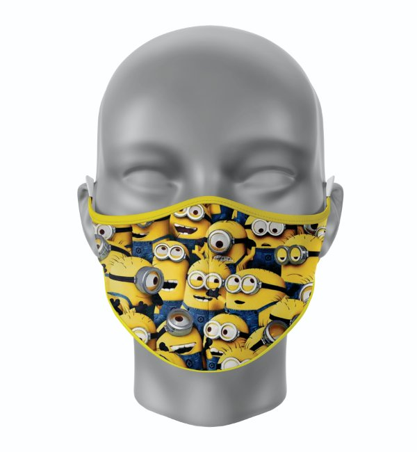 Máscara de Tecido de Dupla Camada Estampa Minions