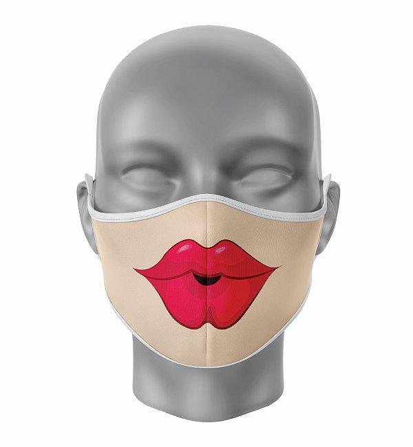 Máscara de Tecido de Dupla Camada Estampa Bocas Sensual 3