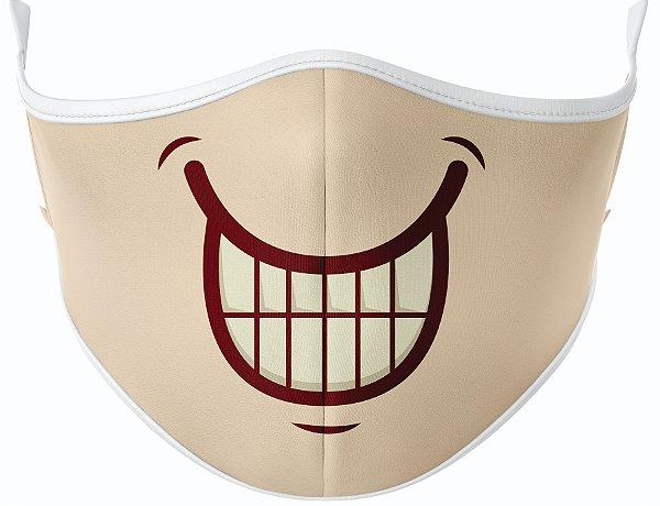 Máscara de Tecido de Dupla Camada Estampa Bocas Risadinha