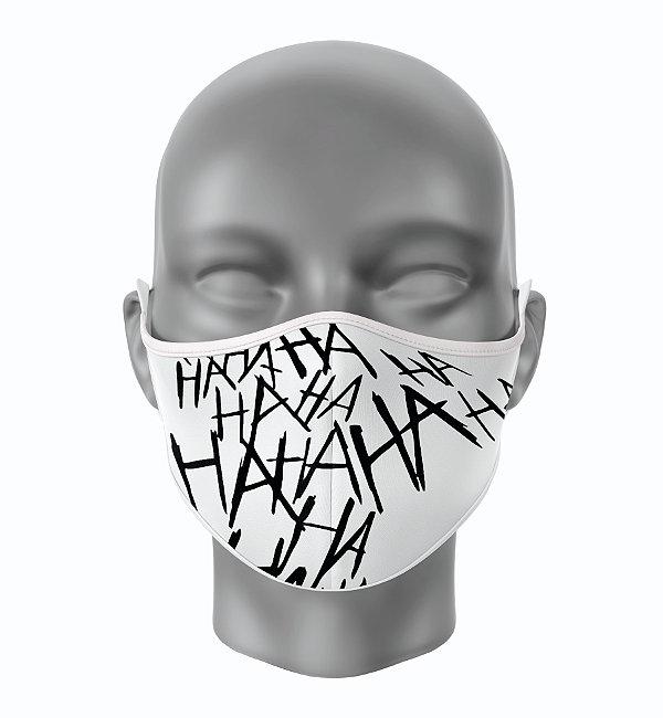 Máscara de Tecido de Dupla Camada Estampa HAHAHA