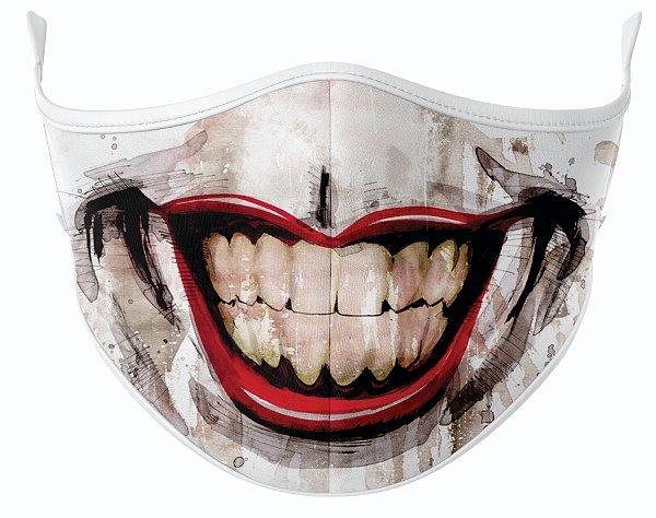 Máscara de Tecido de Dupla Camada Estampa Boca Coringa