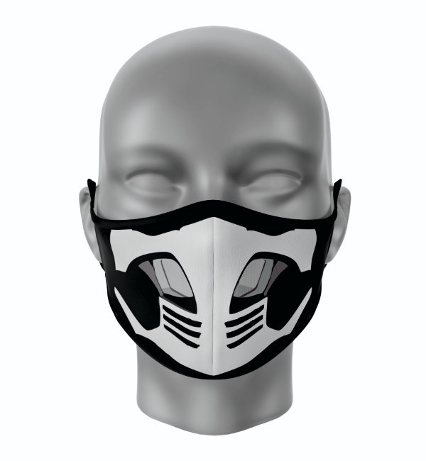 Máscara de Tecido de Dupla Camada  Mortal Kombat Smoke