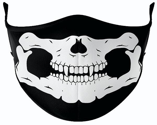 Máscara de Tecido de Dupla Camada Estampa Caveira