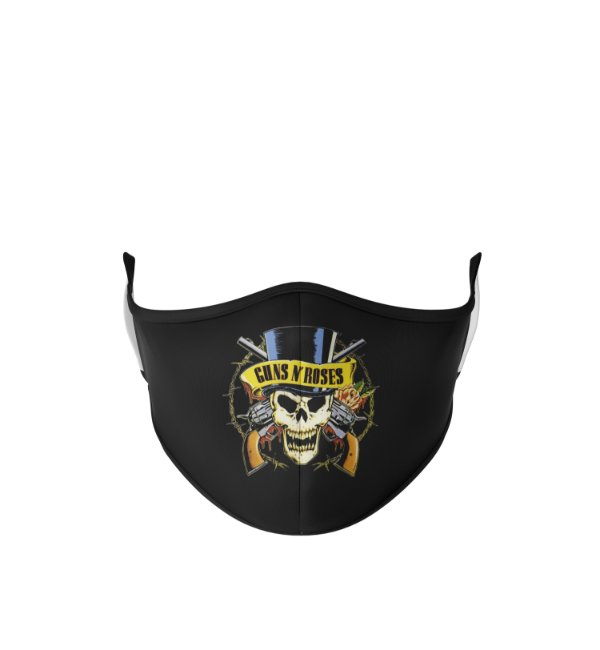 Máscara de Tecido Dupla Camada Antibacteriana Guns and Roses
