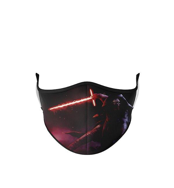 Máscara de Tecido Dupla Camada Antibacteriana Kylo Ren Sabre De Luz