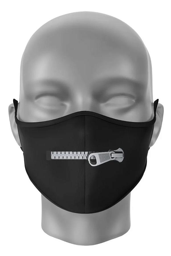 Máscara de Tecido Dupla Camada Antibacteriana Bocas Zíper