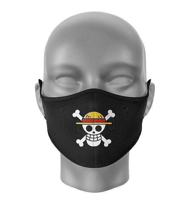 Máscara de Tecido Dupla Camada Antibacteriana One Piece Preto