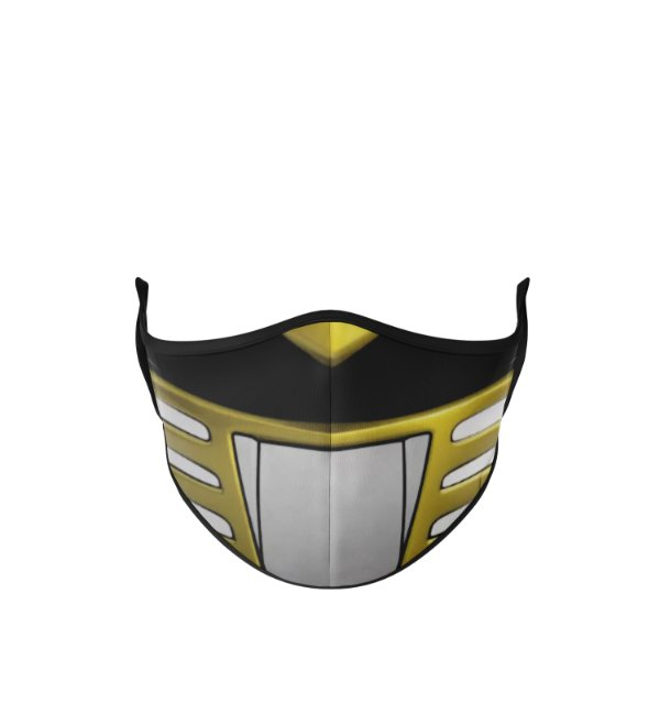 Máscara Antibacteriana Power Rangers Amarelo