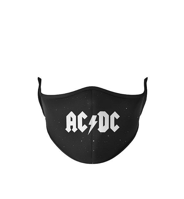 Máscara Antibacteriana Estampa ACDC Preto