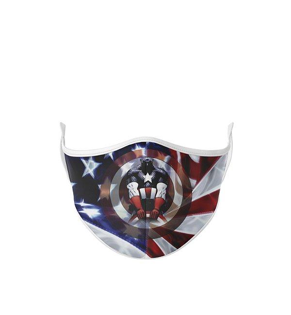 Máscara Antibacteriana Estampa Capitão América