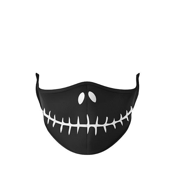 Máscara Antibacteriana Estampa Jack Skellington Preto