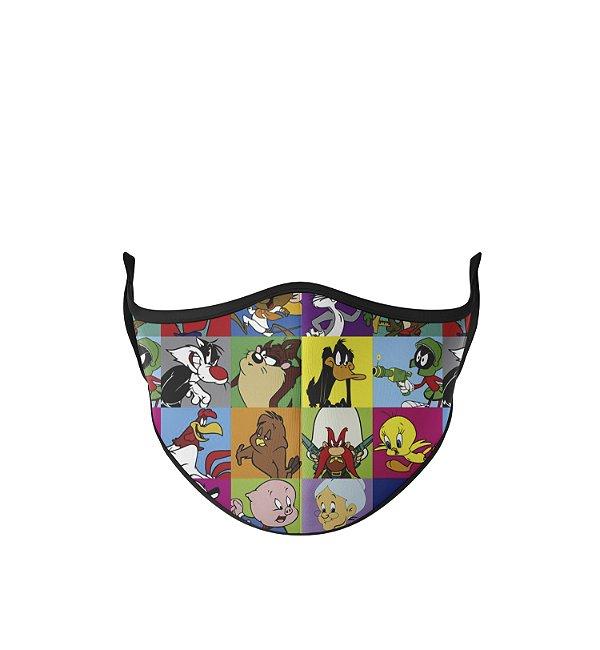 Máscara Antibacteriana Estampa Looney Tunes 2