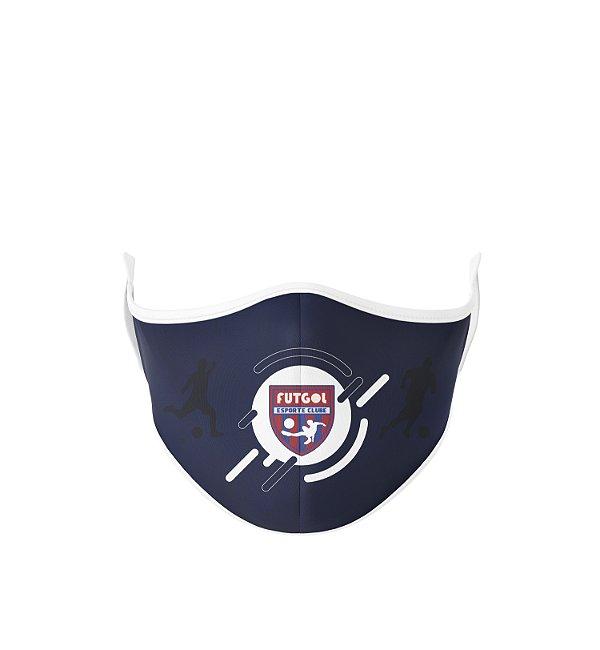 Máscara Antibacteriana Estampa Futgol Azul - Logo