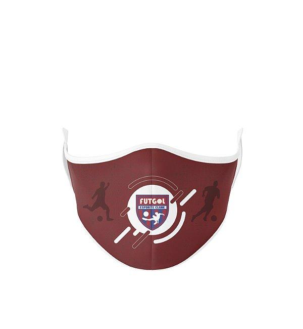 Máscara Antibacteriana Estampa Futgol Vermelha - Logo