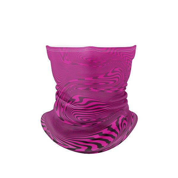 Balaclava Elástica Térmica Estampa Rosa
