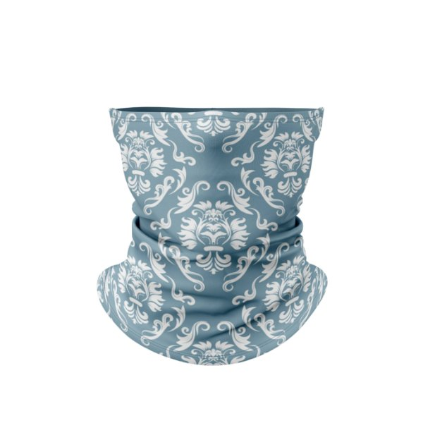 Balaclava Elástica Térmica Estampa Floral Azul