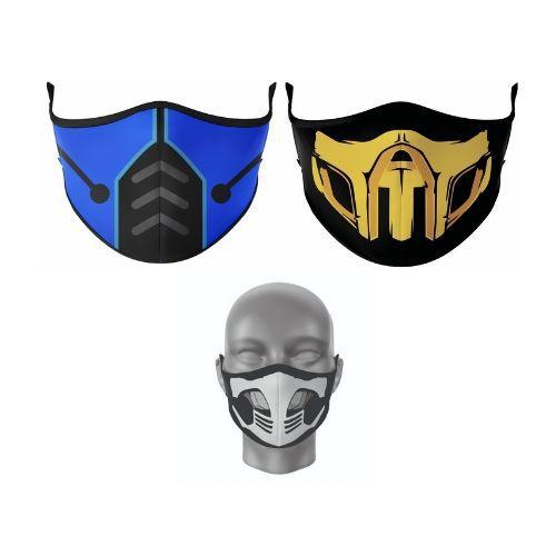Kit Máscara Antibacteriana Mortal Kombat 2
