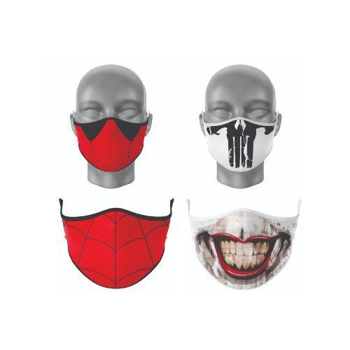 Kit Máscara Antibacteriana Super-herói