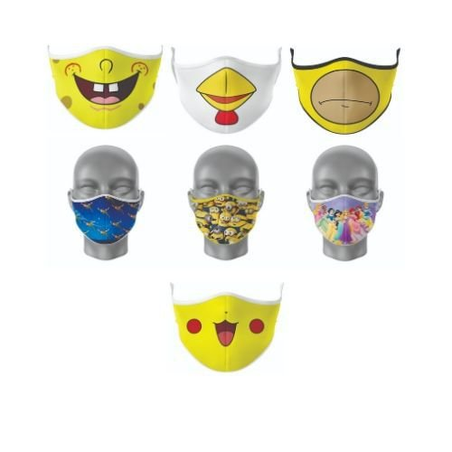 Kit Máscara Antibacteriana Desenho Animado